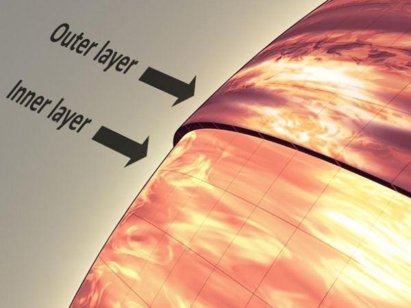 Grafika ukazująca różny rozkład chmur w atmosferze w zależności od głębokości / Credits: NASA/JPL-Caltech
