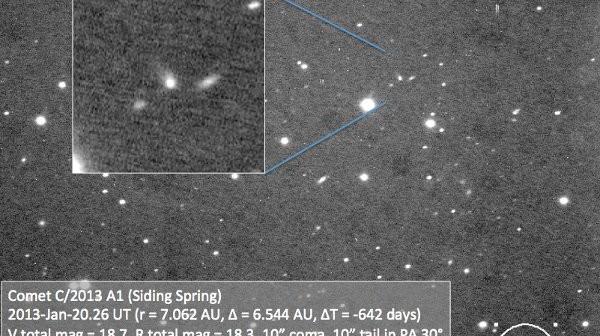 Kometa C 2013 A1 / Credits - Carl Hergenrother