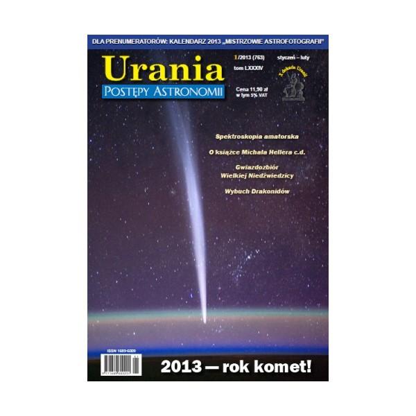 Okładka pierwszego w 2013 roku numeru Uranii-Postępów Astronomii