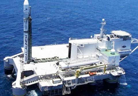 Rakieta Zenit-3SL na platformie Odyssey / Credits - Sea Launch