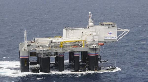 Platforma Odyssey, skąd startują rakiety Zenit-3SL / Credits - Sea Launch