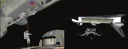 Wizualizacja misji ratunkowej - wg. CAIB / Credits - NASA