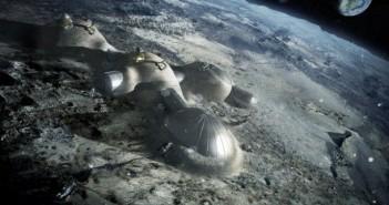 Wizja artystyczna habitatów na powierzchni Księżyca / Credits: ESA