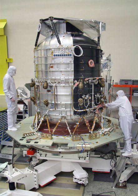 Kriostat Herschela / Credits: ESA