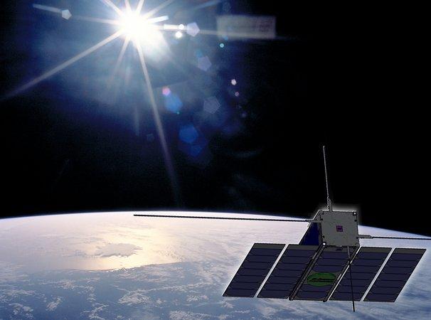 Wizja satelity Ops-Sat na orbicie / Credits - ESA