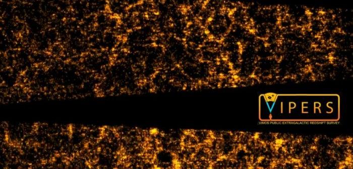 Niespotykany jak dotąd podgląd na dystrybucję galaktyk na przestrzeni 5-8 mld lat temu / Credits: VIPERS team/ESO