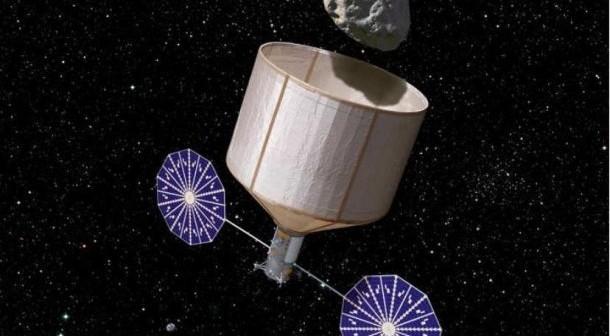 Jedna z koncepcji przechwycenia asteroidy