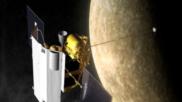 Artystyczna wizja sondy MESSENGER nad Merkurym / Credits: NASA/Johns Hopkins University Applied Physics Laboratory/Carnegie Institution of Washington