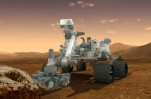 MSL na Marsie - wizualizacja / Credits: NASA