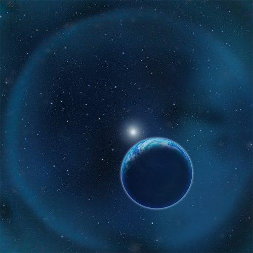 Ilustracja przedstawia ziemiopodobną egzoplanetę przysłaniającą białego karła. Wykrycie tlenu w atmosferach takich planet pozasłonecznych jest znacznie łatwiejsze niż w przypadku obiektów orbitujących wokół gwiazd ciągu głównego. Credit: David A. Aguilar (CfA)