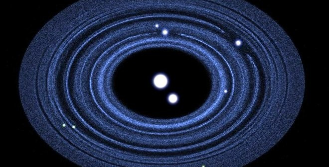 Potencjalny wygląd układu Plutona / Credits - S. Keyes, NASA