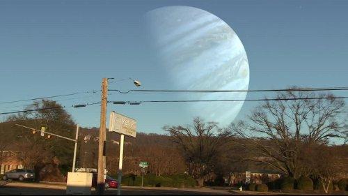 Ziemia jako księżyc Jowisza / Credits - Yetipc
