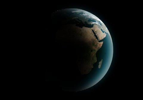 Ziemia - błękitna planeta / Credits - K. Kanawka, kosmonauta.net