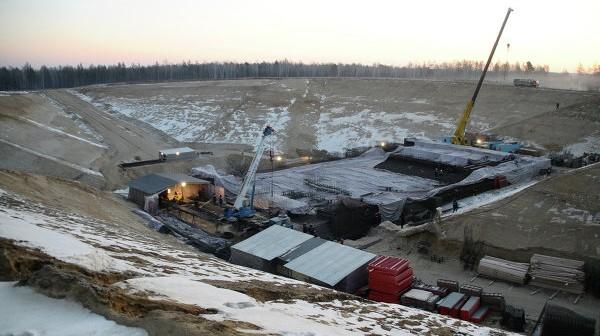 Prace budowlane na terenie kosmodromu Wostocznyj / Credits: RIA Nowosti, Iwan Belozerow