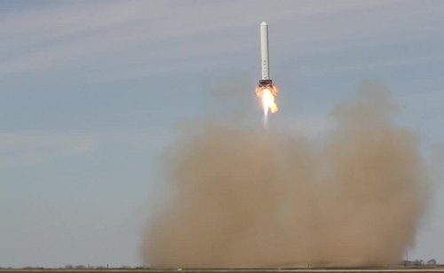 Czwarty test rakiety Grasshopper - 07.03.2013 / Credits - SpaceX