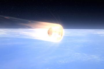 Kapsuła Dragon wchodzi w atmosferę / Credits - SpaceX