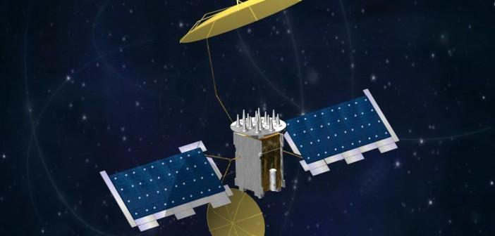 Wizualizacja satelity MUOS / Credits: Lockheed Martin