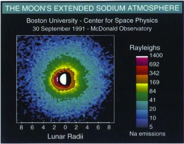 Poświata od sodu w księżycowej atmosferze / Credits: NASA