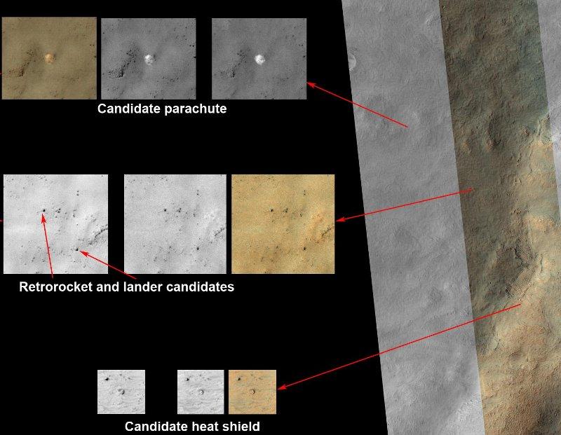 Elementy misji Mars 3? / Credits - NASA/JPL-Caltech/Univ. of Arizona