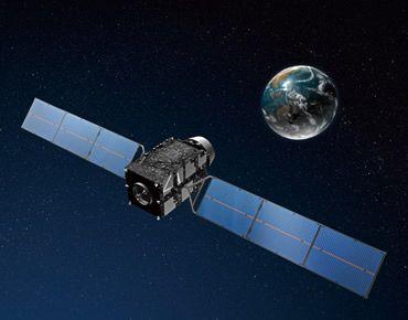 Japoński satelita nawigacyjna - wizja artystyczna / Credits: JAXA