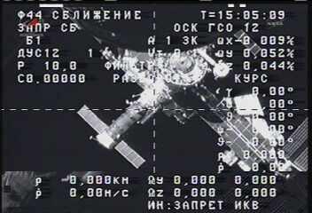 Progress oddala się od ISS / Credits - NASA TV