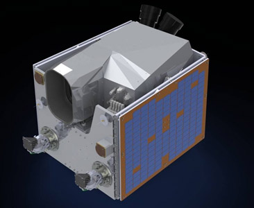 Wizualizacja satelity DZZ-MR / Credits: SSTL