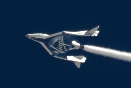 Lot SpaceShipTwo z 12 kwietnia 2013 / Credits - Virgin Galactic