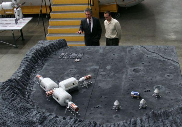 Makieta bazy firmy Bigelow Aerospace na Księżycu / Credits: Bigelow Aerospace