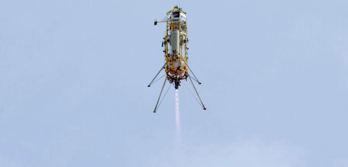 Wznoszenie pojazdu Xombie pod kontrolą programu GENIE / Credits: NASA, Masten Space Systems