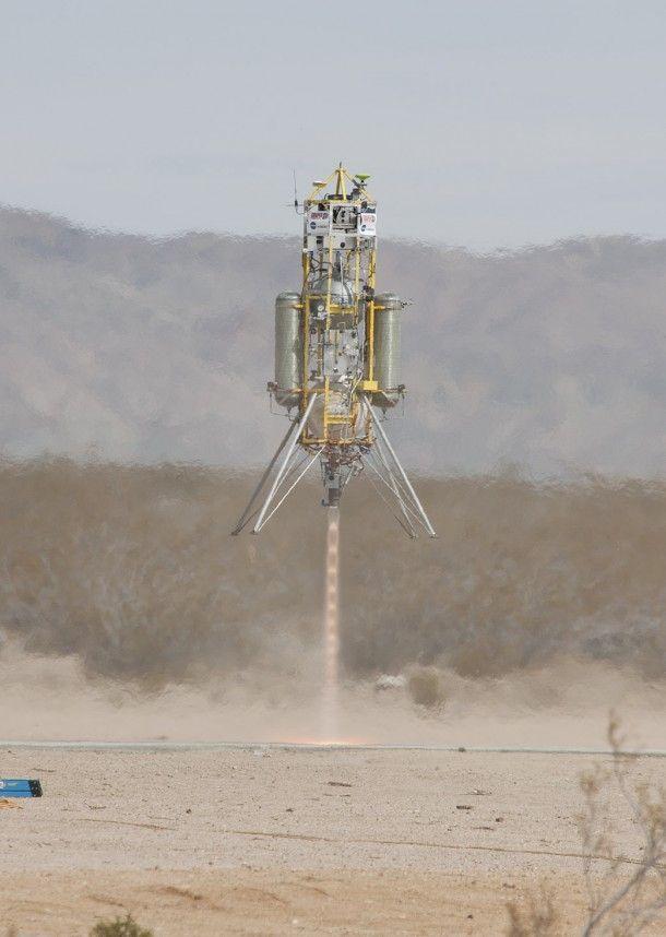 Moment startu pojazdu Xombie w najdłuższym i najwyższym wykonanym locie do tej pory / Credits: NASA, Masten Space Systems