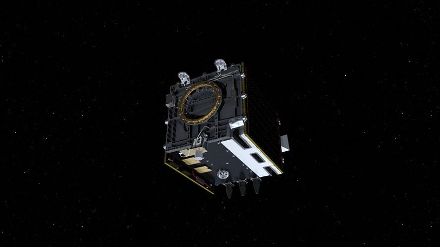 Proba-V na orbicie - wizualizacja / Credits: ESA-ATG Medialab