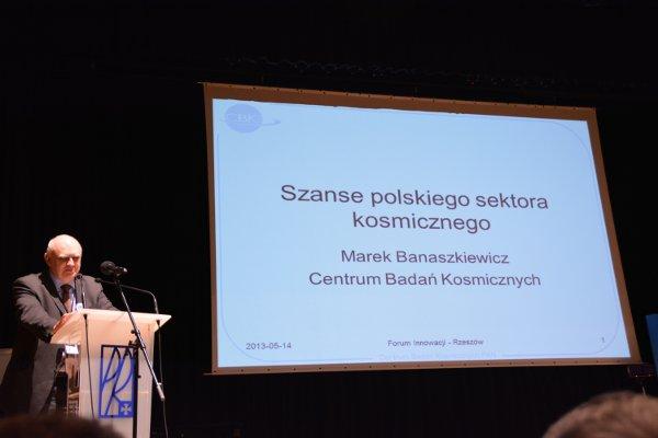 Prezentacja CBK dotycząca polskiego sektora kosmicznego / Credits - K. Kanawka, kosmonauta.net
