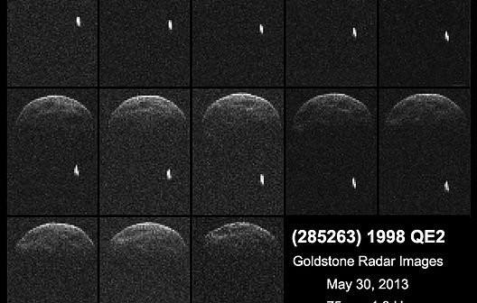 Uzyskane obrazy radarowe 1998 QE2 / Credits - NASA