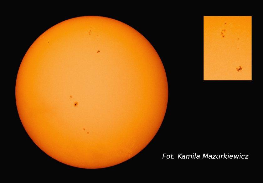 ISS na tle Słońca - 05.05.2013 / Credits - Kamila Mazurkiewicz