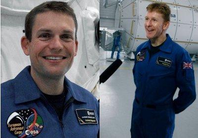 Andreas Mogensen i Timothy Peake / Credits - ESA, AndreasSchepers