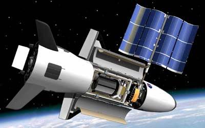 Grafika przedstawiająca X-37B na orbicie / Credits - USAF