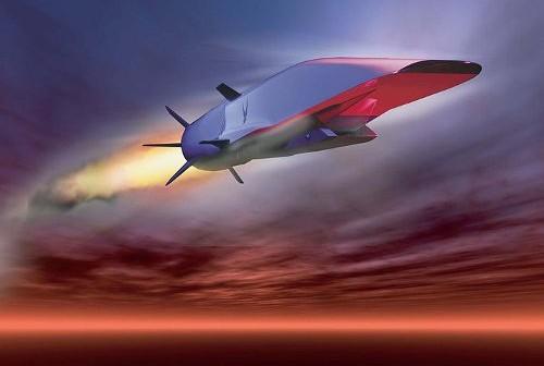 Wizja artystyczna pojazdu X-51A podczas lotu hipersonicznego / Credits - USAF