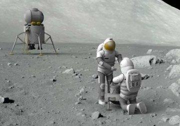 Grafika prezentująca koncepcję Lunar First / Credits - NASA
