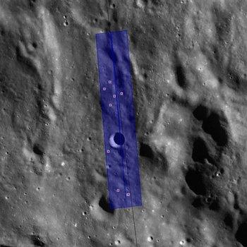 Lokalizacja nowych kraterów na powierzchni Księżyca / Credits - NASA/GSFC/Arizona State University