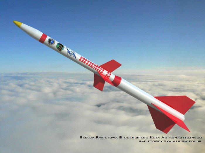 Grafika przedstawiająca rakietę Amelia 2 / Credits SR SKA