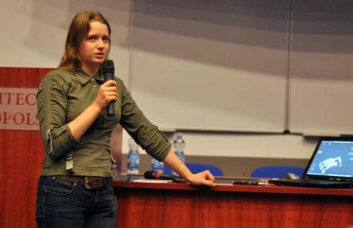 Agnieszka Rumińska mówi o projekcie swojego sensora do wykrywania mikroorganizmów w