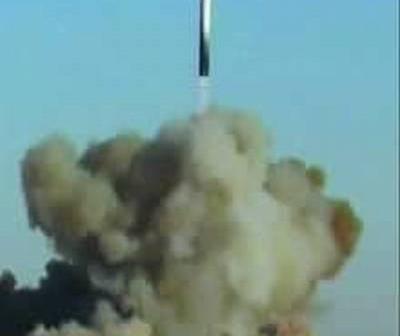 Dziewiczy lot rakiety Strieła w grudniu 2003 roku / Credits: NPO Mash