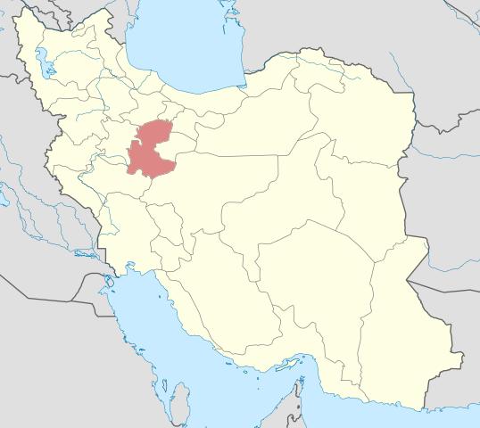 Prowincja Markazi na mapie Iranu. Miasto Arak położone jest w jej południowej części / Credits: Yamaha5, Licencse: CC-SA 3.0