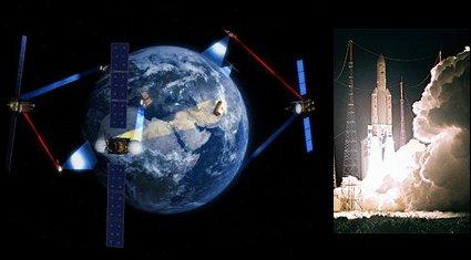 Satelity telekomunikacyjne i start rakiety - część przemysłu satelitarnego / Credits - ESA