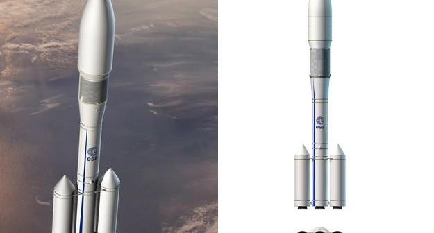 Konfiguracja Mulit P linear, wybrana dla Ariane 6 / Credits - ESA, D. Ducros, 2013