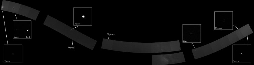 Układ Słoneczny w obiektywie sondy MESSENGER. Mozaika z listopada 2010 roku. / Credits - NASA / JHUAPL / Carnegie Institution of Washington