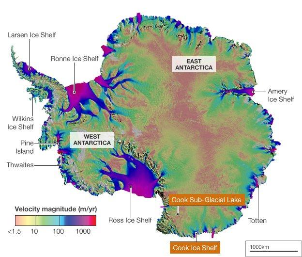 Antarktyda i umiejscowienie CSGL / Credits - NASA