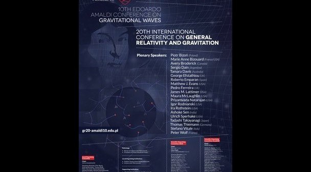 Plakat konferencji GR20/Amaldi10 / Credits - organizatorzy GR20/Amaldi10