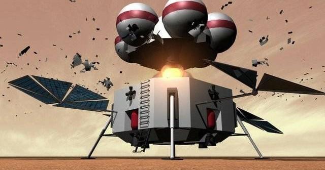 Wizja artystyczna modułu powrotnego z powierzchni Czerwonej Planety / Credits: ILC, BBC