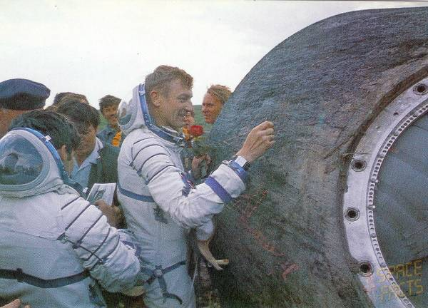 Hermaszewski after landing of Soyuz 30 mission / Credits - public domain